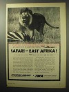 1955 TWA Ethiopian Airlines Ad - Safari in East Africa
