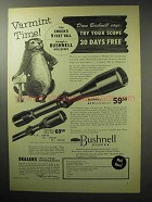 1955 Bushnell 6x Scope Chief Ad - Varmint Time