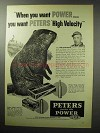 1955 Peters High Velocity Ammunition Ad!