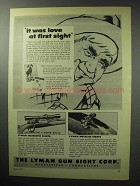 1955 Lyman Ad - All-American 4 Power Scope; 66 Sight