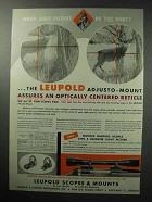 1955 Leupold Adjusto-Mount Ad - Which Sight Picture?