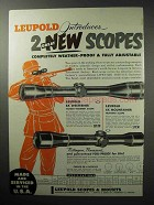 1955 Leupold Scopes Ad - 8x Westerner 4x Mountainer