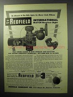1955 Redfield International Match Receiver Sight Ad