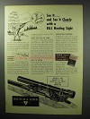 1955 Bausch & Lomb Hunting Sight Ad - See it Clearly