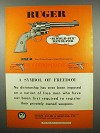 1955 Ruger Single-Six Revolver Ad - Symbol of Freedom