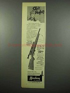 1955 Mossberg Model #142K Rifle Ad - She's Perfect