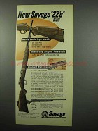 1955 Savage .22 Cal Rifle; Stevens Model 15 Rifle Ad