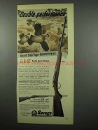 1955 Savage Fox B-ST Double Barrel Shotgun Ad