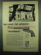 1955 Colt Single Action Army Revolver Ad - Peacemaker