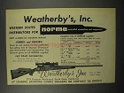 1955 Weatherby Rifle and Norma Ammunition Ad