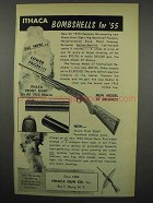 1955 Ithaca Model 37 Deluxe Rifle Ad - Bombshells