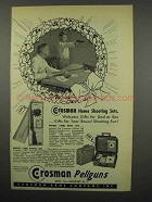 1955 Crosman Ad - 140K Rifle Set; Model 150K Pistol Set