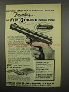 1955 Crosman Model 150 Pellgun Pistol Ad - Powderless