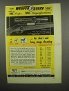 1955 Weaver KV Scope Ad - Two Magnifications