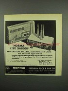 1955 Norma .30-06 Ammunition Ad - Olympic Championship
