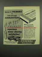 1955 Federal Primers and Ammunition Ad - Field Target