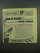 1955 Federal Primers Ad - World's Record