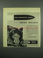 1955 Speer Bullets Ad - When Dependability Counts
