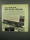 1955 Bausch & Lomb Rifle Sight Ad - Learn All the Facts