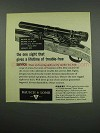 1955 Bausch & Lomb Rifle Sight Ad - Trouble-Free