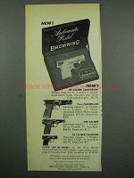 1955 Browning Gun Ad - .25 Lightweight; 9mm Parabellum