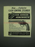 1955 Iver Johnson Armsworth Revolver Ad - Flash Control