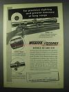 1954 Weaver Model K8 Scope Ad - Precision Sighting