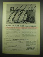 1954 National Rifle Association NRA Ad - Reasons