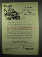 1954 National Rifle Association NRA Ad - Hunter Friends