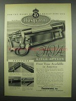 1954 Husqvarna H.V.A. Rifle Action Ad - The Heart Of