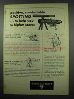 1954 Bausch & Lomb BALscope Spotting Scope Ad