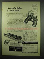 1954 Bausch & Lomb Binocular and Hunting Sight Ad