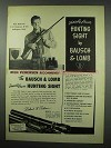 1954 Bausch & Lomb Variable Power Hunting Sight Ad