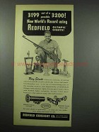 1954 Redfield Olympic Front Sight; Olympic Receiver Ad