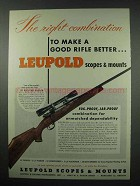 1954 Leupold Scope Ad - 300 Weatherby Magnum