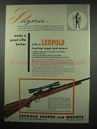 1954 Leupold Scope & Mount Ad - Winchester 308 Rifle