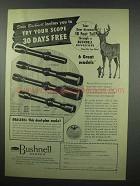 1954 Bushnell Scope Ad - Dave Bushnell Invites You