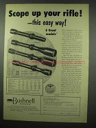 1954 Bushnell Scopes Ad - Scope Up Your Rifle!