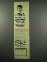1954 Daisy BB Rifle Ad - Boy Scouts of America Approve