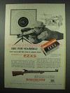 1954 Winchester EZXS Cartridges; Model 52 Rifle Ad