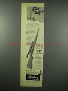 1954 Mossberg Model 142K Rifle Ad - She's Perfect