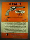 1954 Ruger Single-Six Revolver Gun Ad!