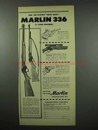 1954 Marlin 336 30/30-C and 336-SD Carbine Ad