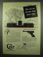 1954 Colt Sport Model Woodsman Pistol Ad - Call Shots