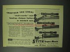 1954 Stith Scopes Ad - Whether You Shoot