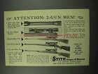 1954 Stith 4x Master Scope Ad - Attention 2-Gun Men