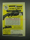 1954 Weaver Model K3; K4 Scope Ad - Magnification