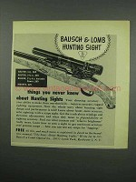 1954 Bausch & Lomb Hunting Sight Ad - You Never Knew