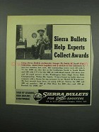 1954 Sierra Bullets Ad - Help Experts Collect Awards