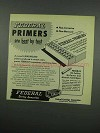 1954 Federal Primers Ad - Are Best by Test